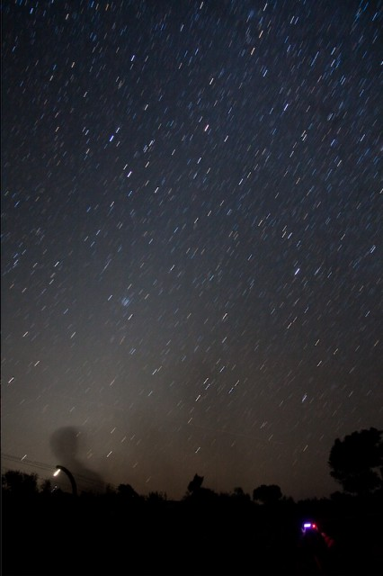 Really bright Zodiacal light the last morning (it was casting clearly visible shadows)